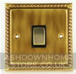 Monarch Roped Antique Bronze Rocker Light Switches